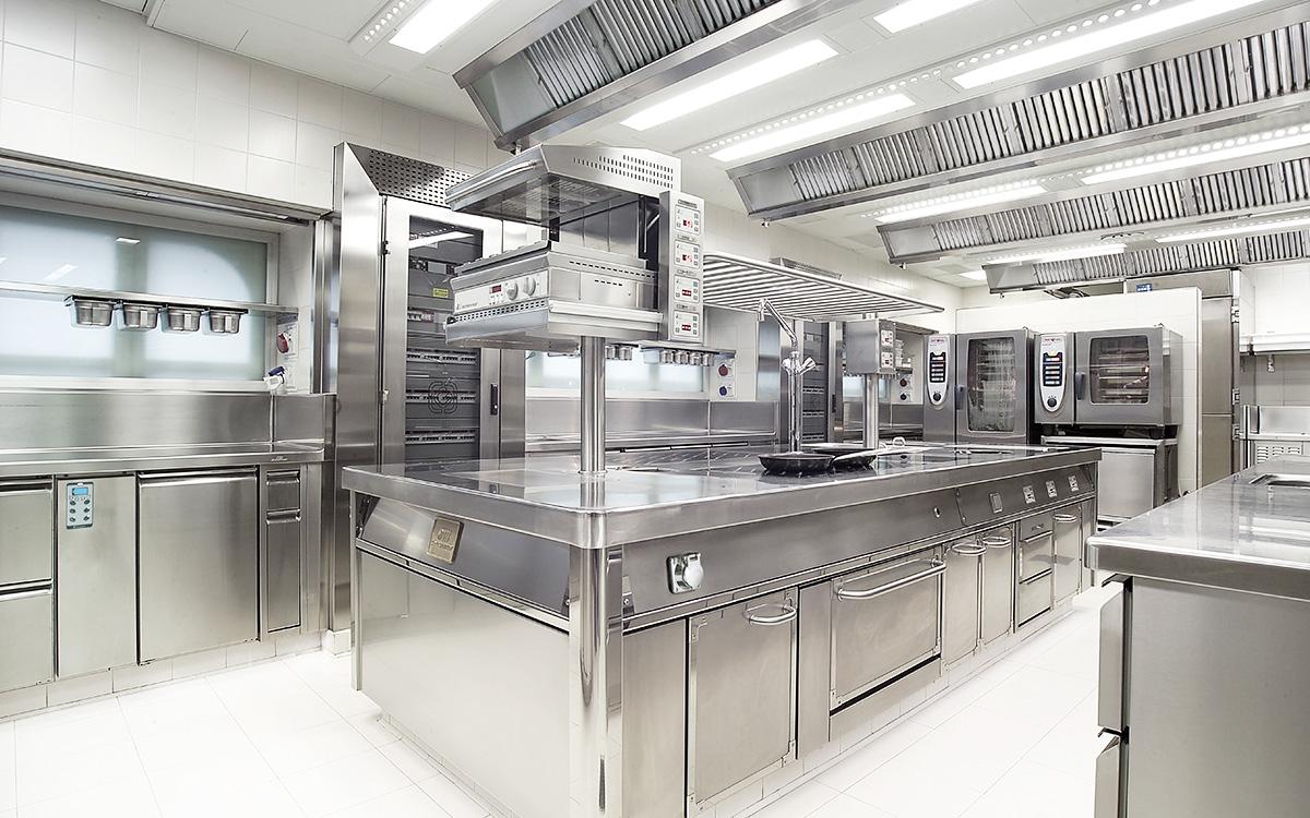 cucina professionale per uso domestico. slide background. cucine ...